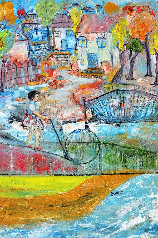 Village Painting - Sweet Memories by Evelina Popilian