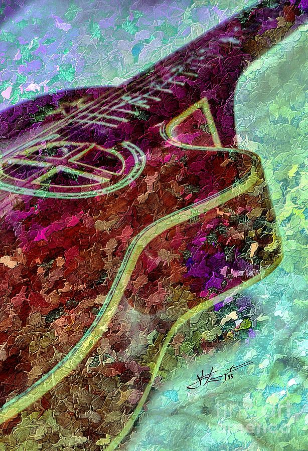 Sweet Sounds 3 Digital Guitar Art By Steven Langston Photograph