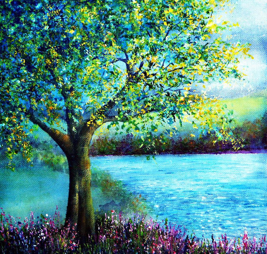 Spring Painting - Sweet Spring by Ann Marie Bone