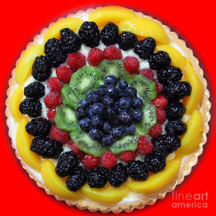 Sweet Treats - Fruit Cake - 5d20920 - Square - Red Photograph