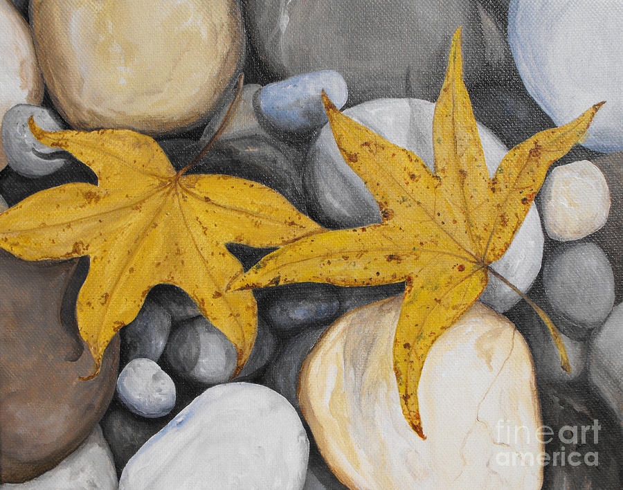 Sweetgum Fall Painting  - Sweetgum Fall Fine Art Print