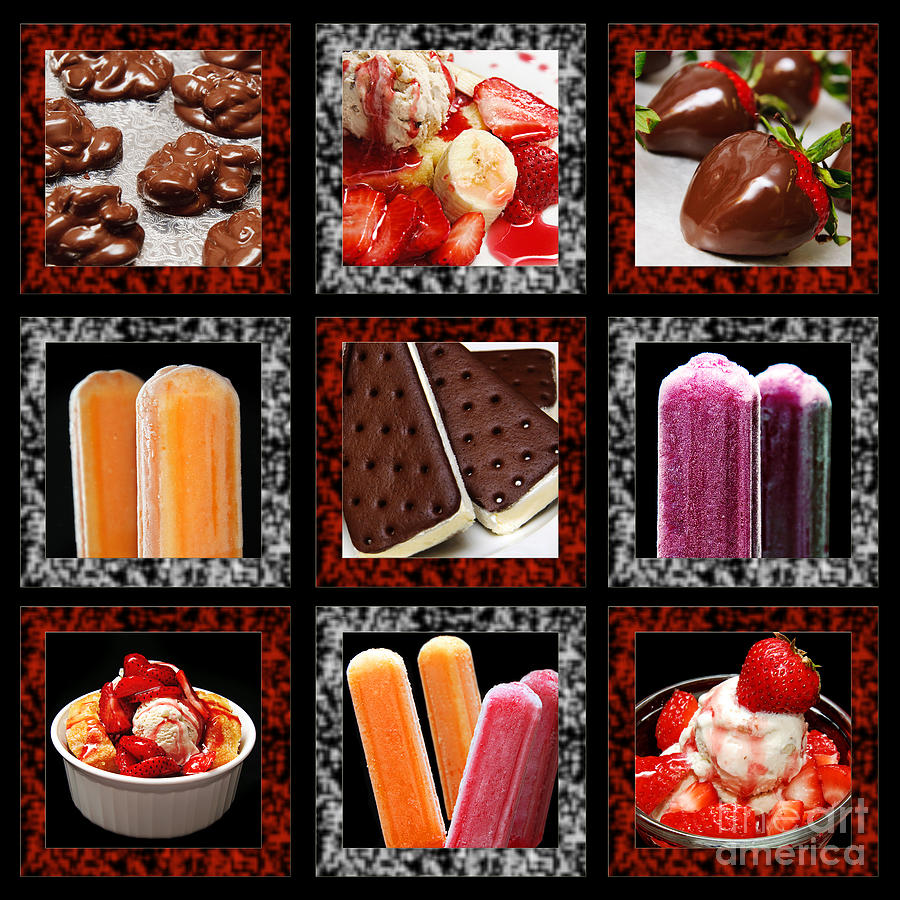 Sweets For The Sweet Tic Tac Toe Photograph  - Sweets For The Sweet Tic Tac Toe Fine Art Print