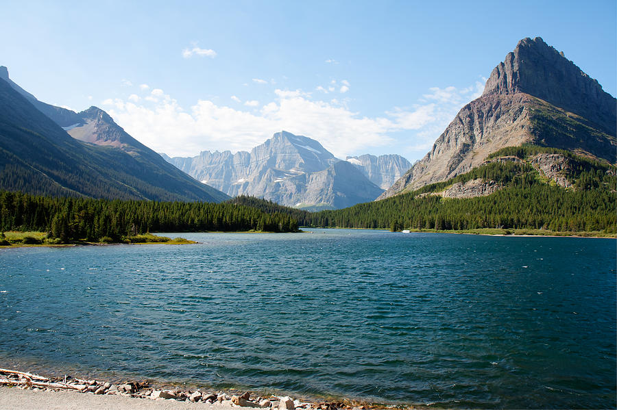 Swiftcurrent Lake Photograph  - Swiftcurrent Lake Fine Art Print