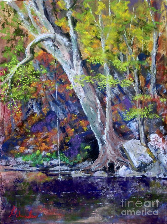 Swimming Hole Pastel  - Swimming Hole Fine Art Print