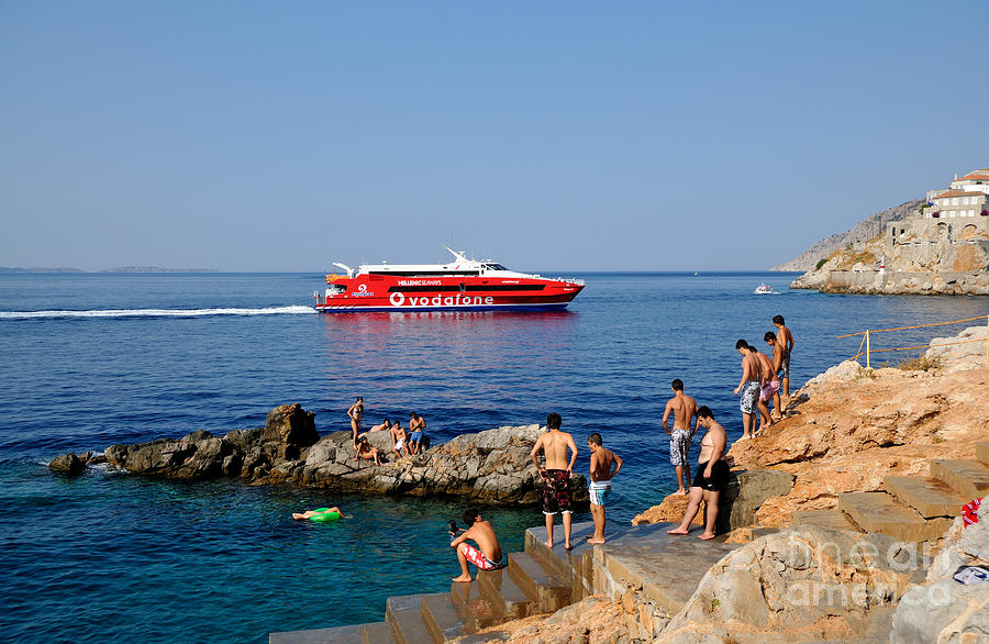 Swimming In Hydra Island Photograph