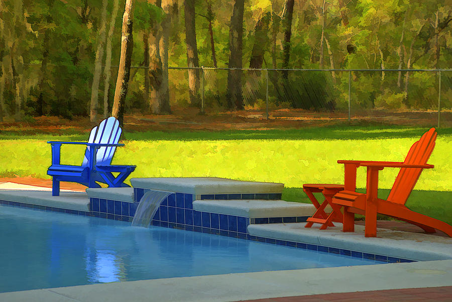 Swimming Pool Art Photograph