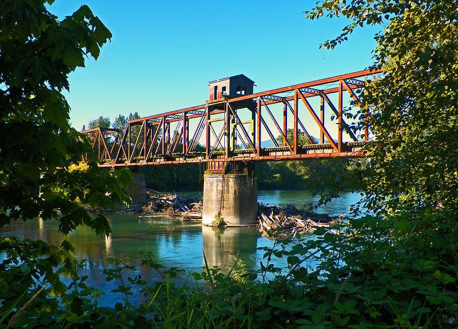 Washington State Photograph - Swing Bridge Relic by Seth Shotwell