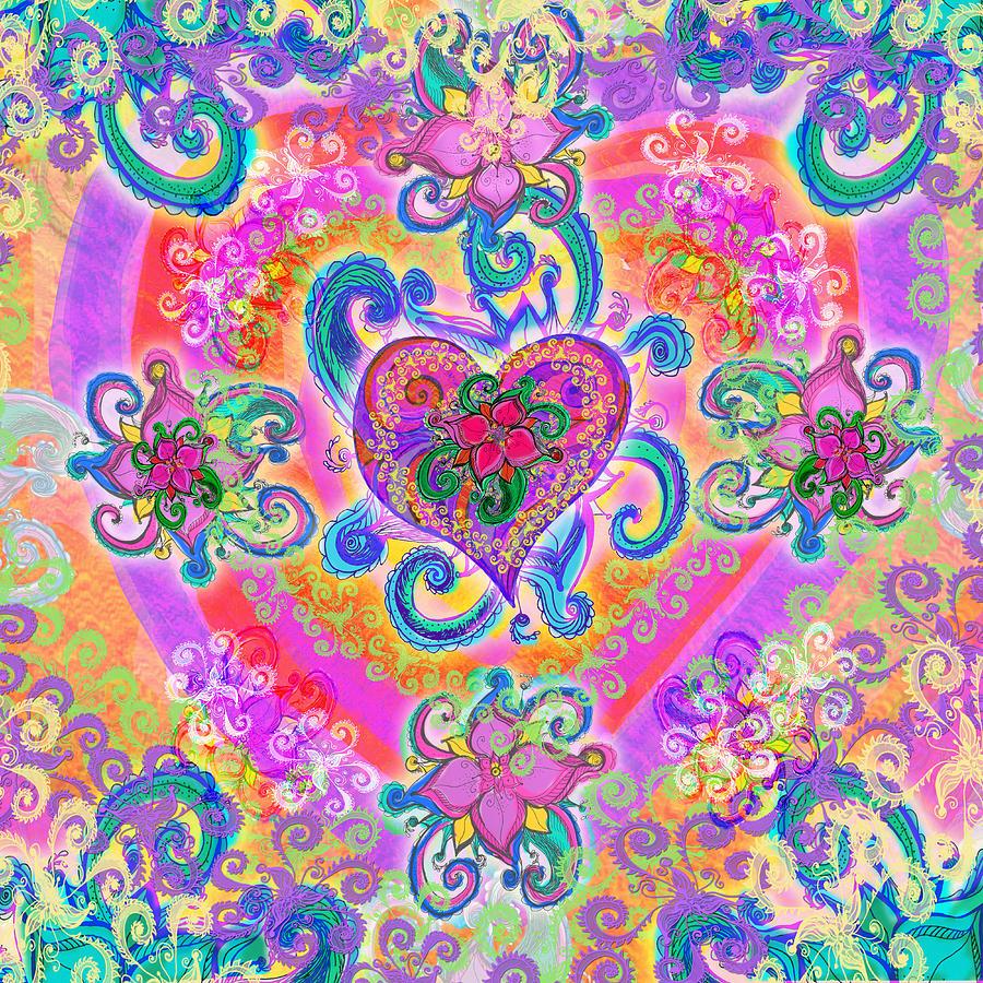 Alixandra Mullins Photograph - Swirley Heart Variant 1 by Alixandra Mullins