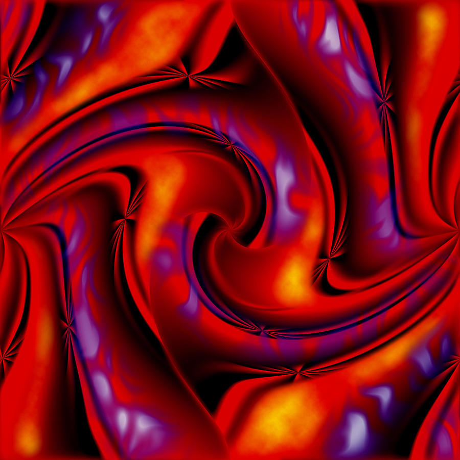 Swirling Fires Painting  - Swirling Fires Fine Art Print