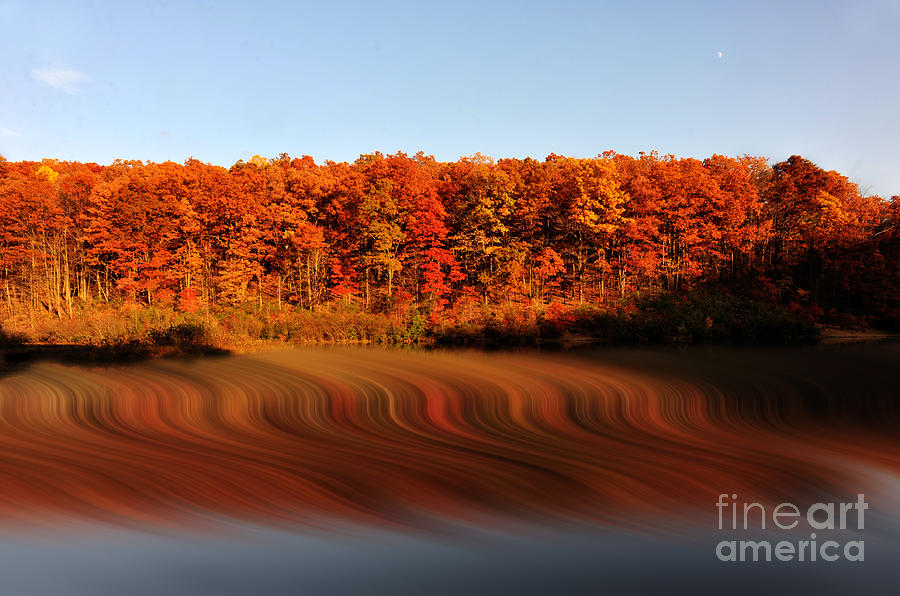 Swirling Reflections With Fall Colors Photograph