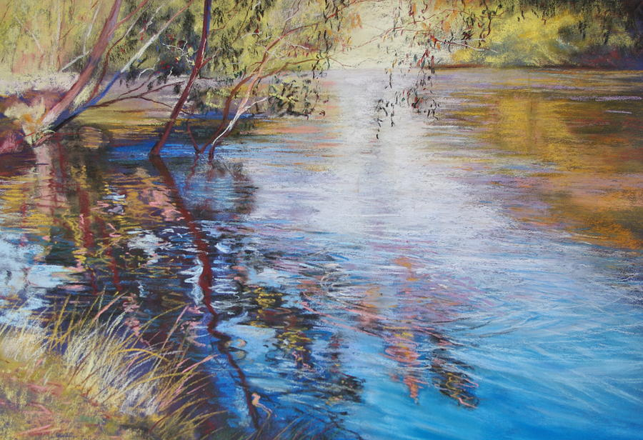 Swirls And Ripples - Goulburn River Painting  - Swirls And Ripples - Goulburn River Fine Art Print