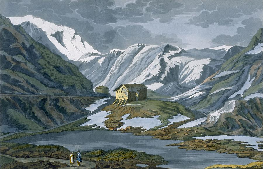 Switzerland Hospice Of St. Bernard Drawing