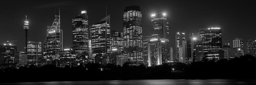 Sydney Skyline In Bw Photograph