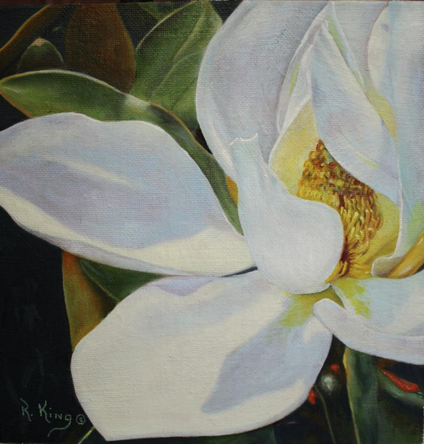 Sydneys Magnolia Painting  - Sydneys Magnolia Fine Art Print