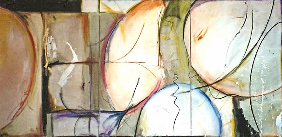 Abstract Painting - Sylvia by Lynn Hughes