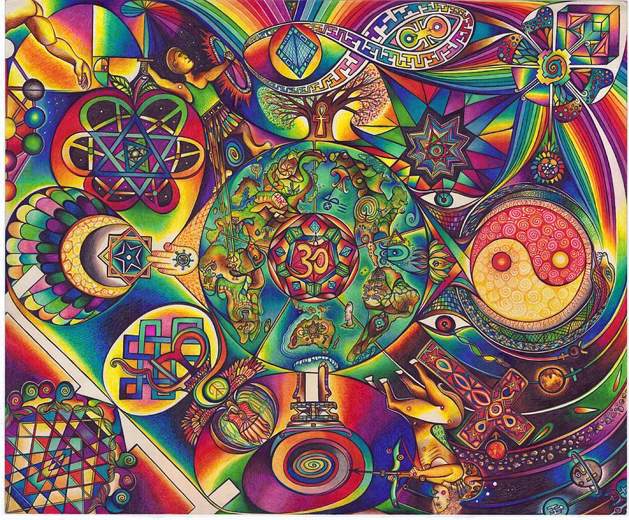 Mandala Drawing - Symbologeo D by DiNo