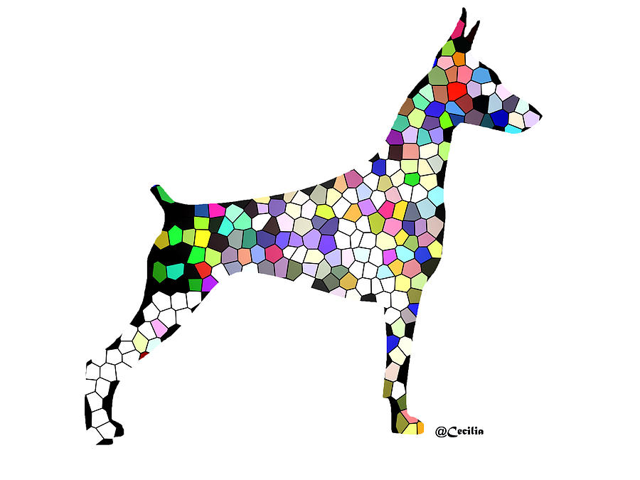 Symetry In Doberman Digital Art