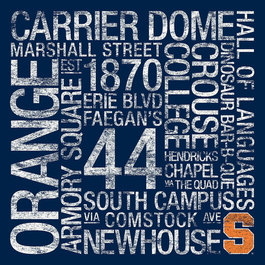 Syracuse College Colors Subway Art Photograph