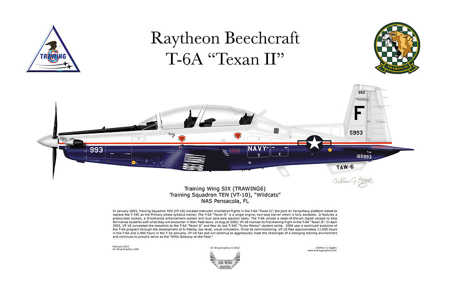 T-6a Texan II Vt-10 Digital Art