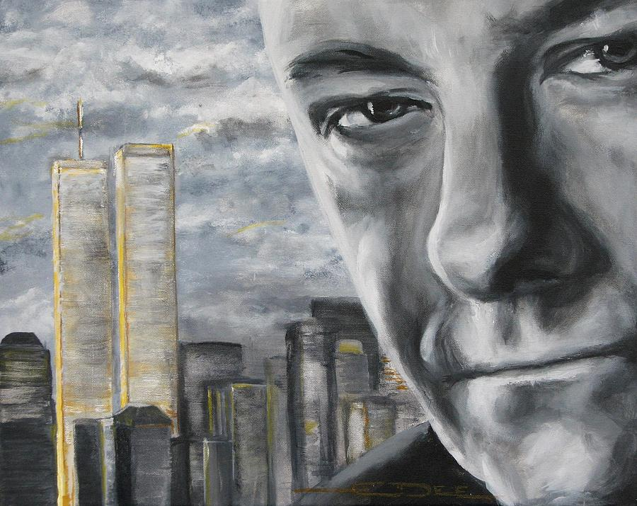Soprano Painting - T And The Wtc by Eric Dee