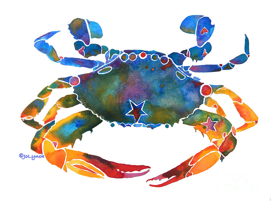 Color Me Crab E Painting By Jo Lynch