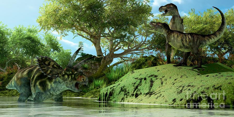 T-rex Defiance Painting