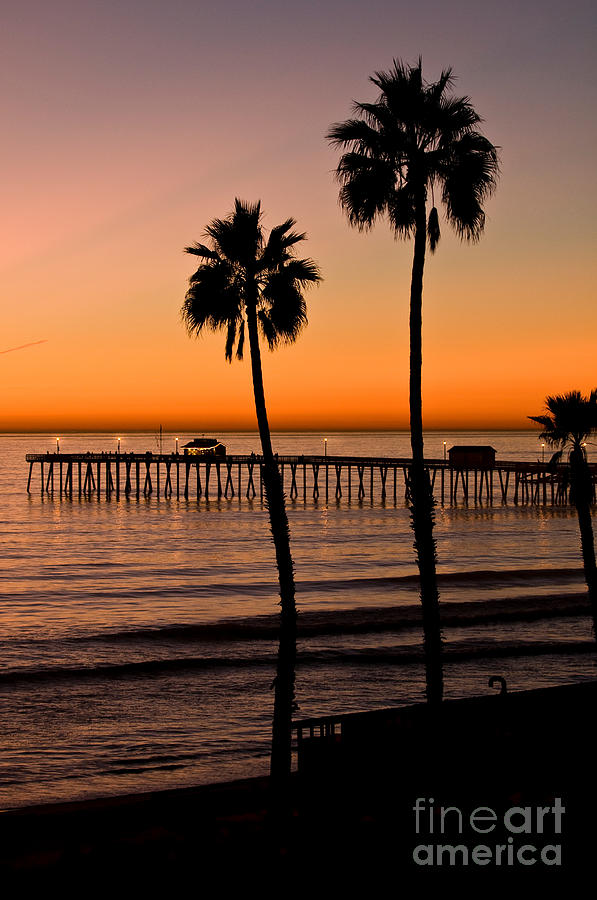 T Street Pier San Clemente California From The Book My Ocean Photograph  - T Street Pier San Clemente California From The Book My Ocean Fine Art Print