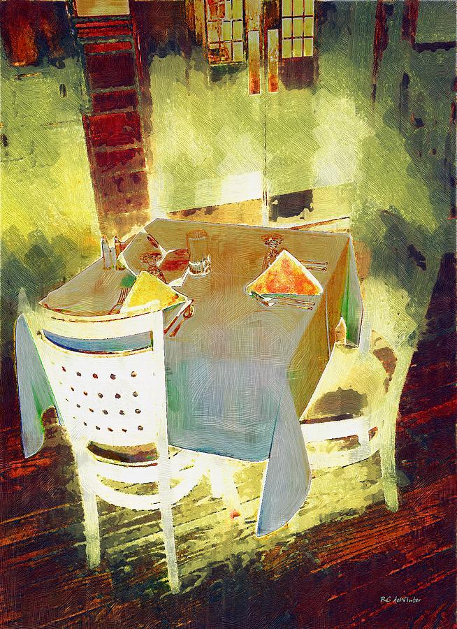Table At The Fauve Cafe Painting  - Table At The Fauve Cafe Fine Art Print