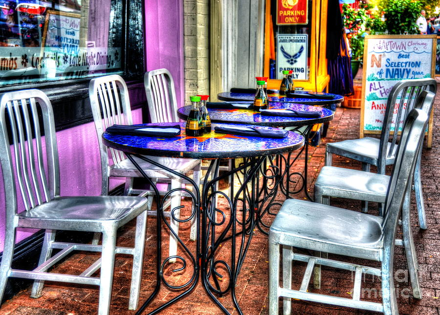 Tables Photograph - Table For Six by Debbi Granruth