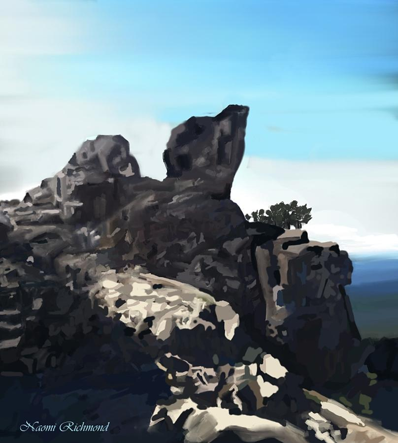 Table Rock Calistoga California Digital Art