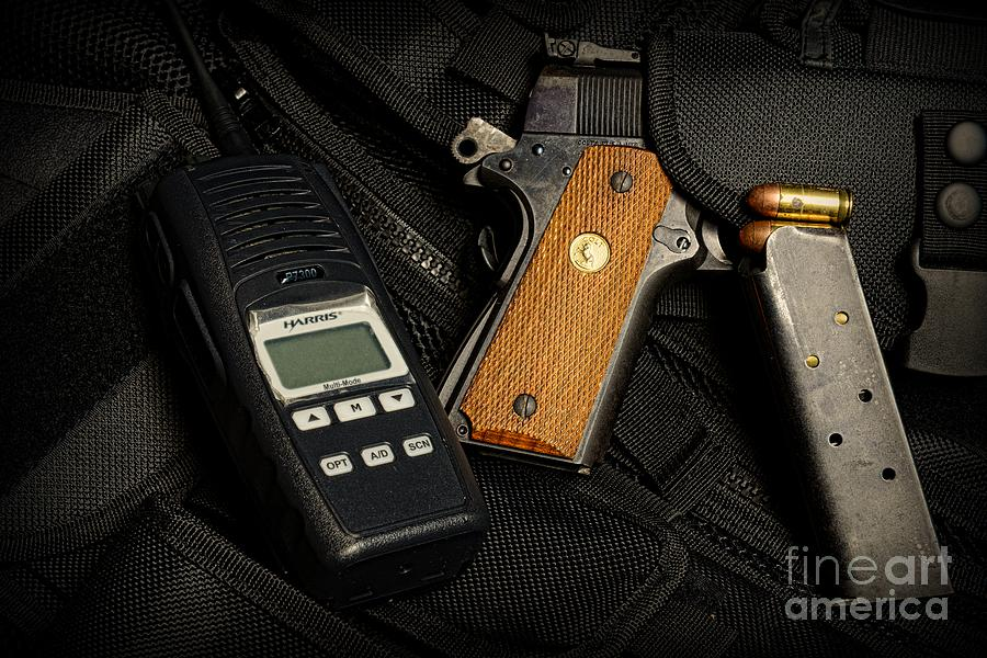 Tactical Gear - Gun  Photograph  - Tactical Gear - Gun  Fine Art Print