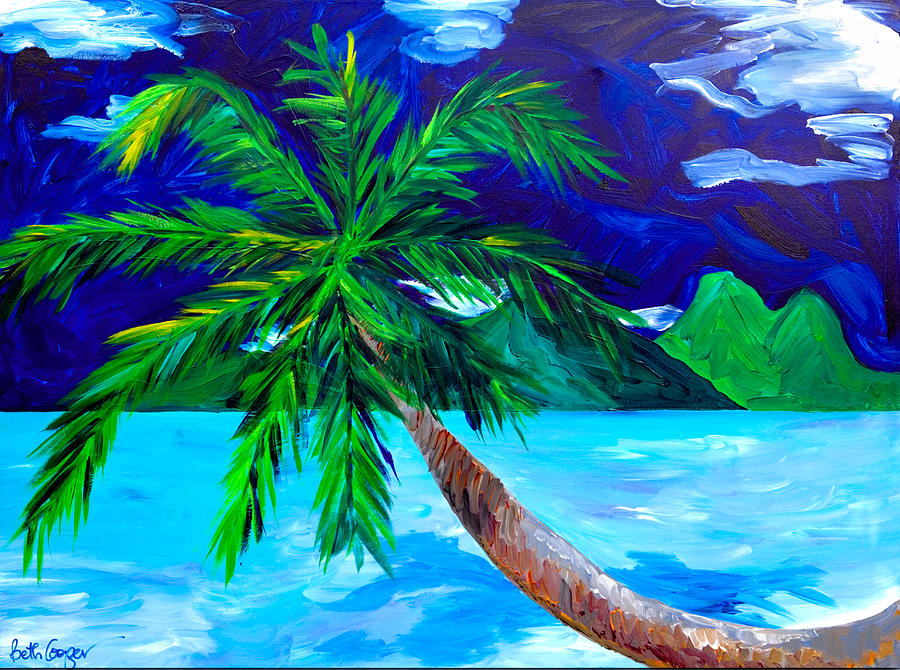 Tahiti Beach Painting