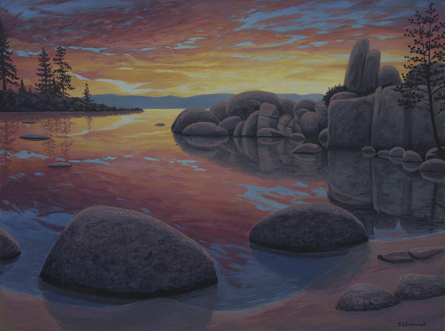 Tahoe Sunset Painting