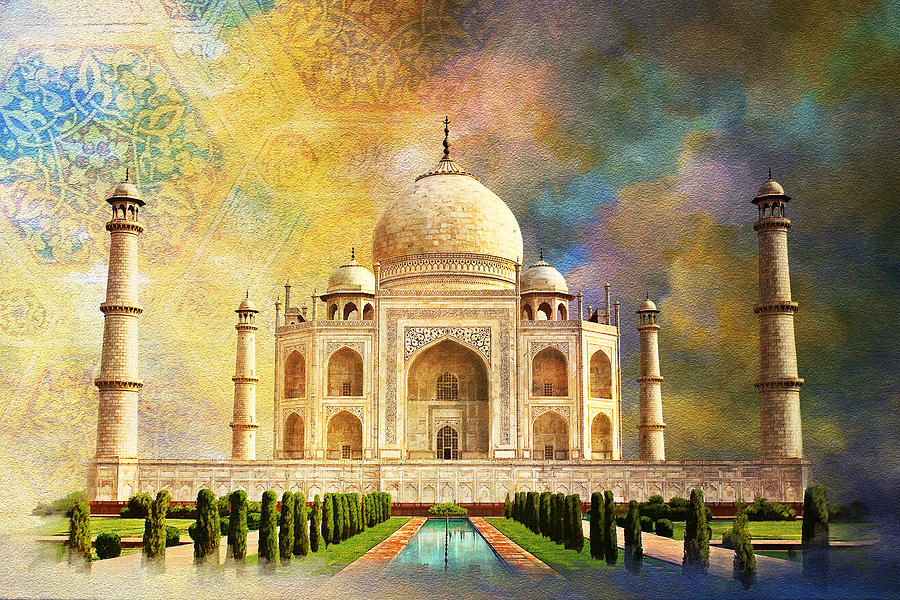 Taj Mahal Painting by Catf