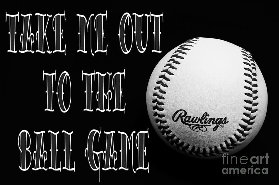 Take Me Out To The Ball Game - Baseball Season - Sports - B W 2 Photograph  - Take Me Out To The Ball Game - Baseball Season - Sports - B W 2 Fine Art Print