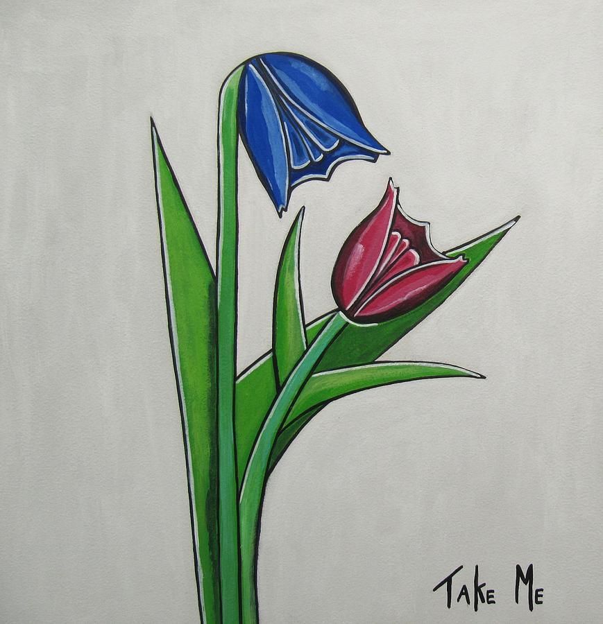 Flower Paintings Painting - Take Me by Sandra Marie Adams