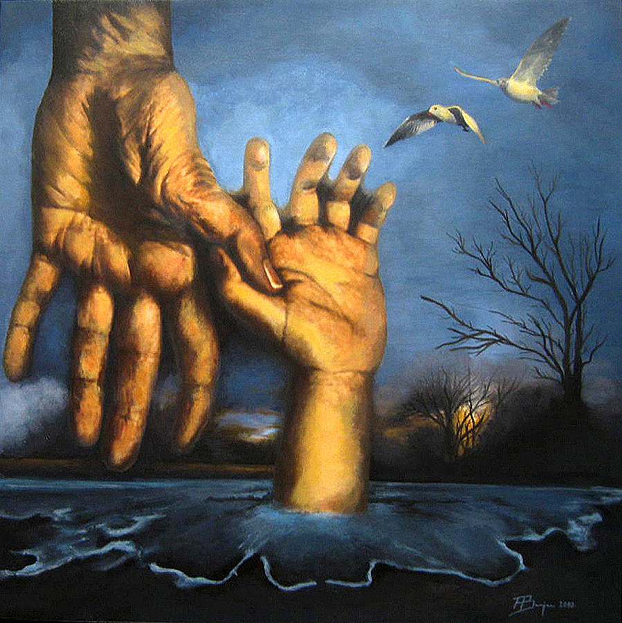 Realism Painting - Take My Hand by Andrea Banjac