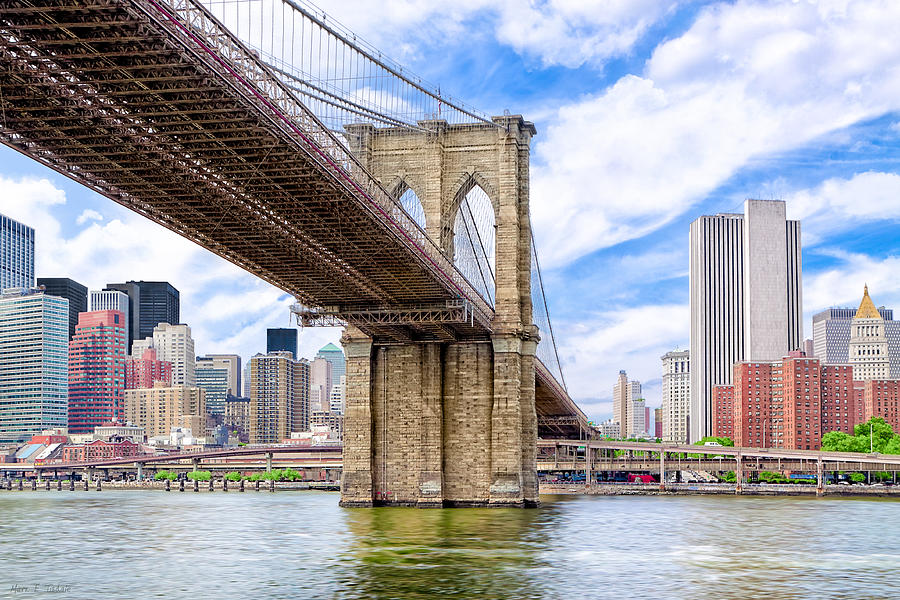 Brooklyn Photograph - Take The Brooklyn Bridge Into Manhattan by Mark E Tisdale