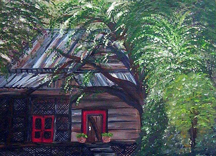 Taking Over The Old Barn  Painting  - Taking Over The Old Barn  Fine Art Print
