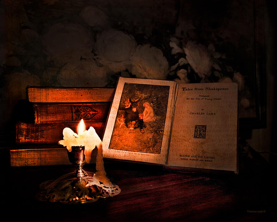 Vintage Still Life Photograph - Tales From Shakespeare by Theresa Tahara