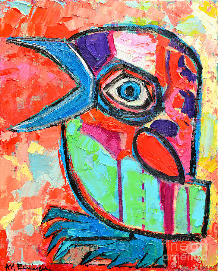 Talkative Baby Bird First This Spring Painting