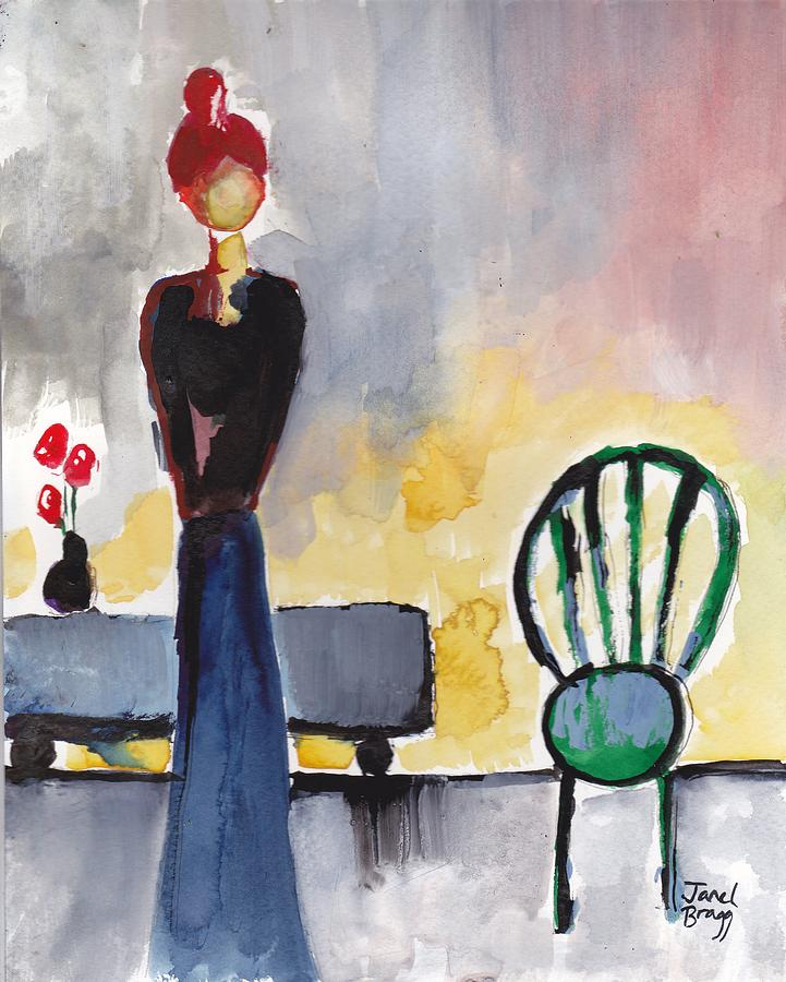 from Alfred painting of red headed woman