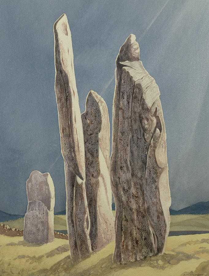 Tall Stones Of Callanish Isle Of Lewis Painting