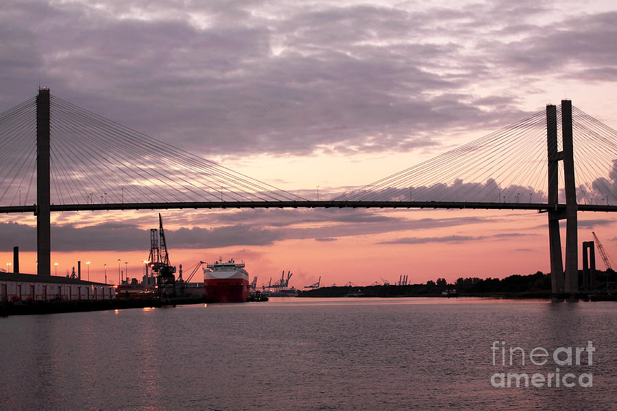Talmadge Memorial Bridge Photograph  - Talmadge Memorial Bridge Fine Art Print