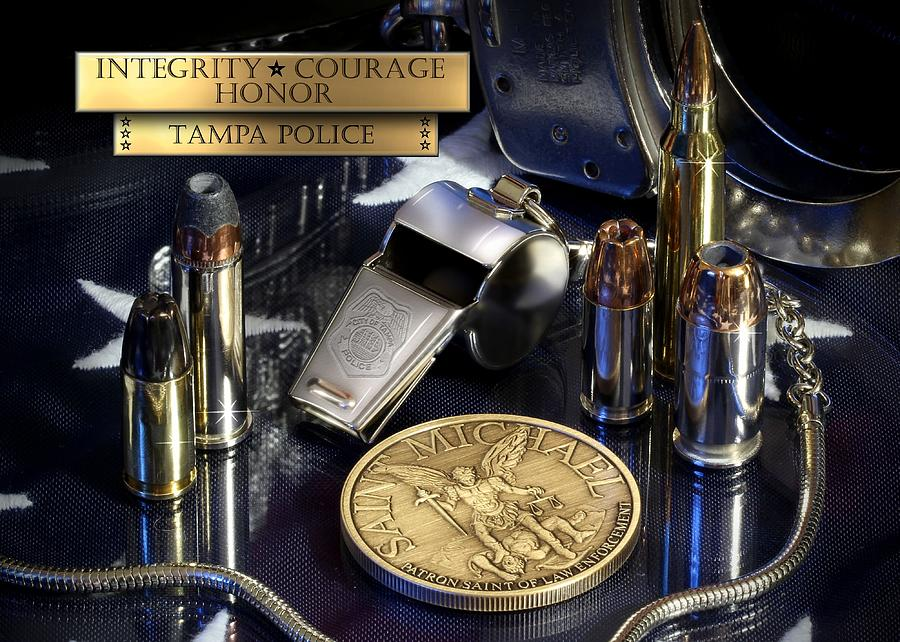 Law Enforcement Photograph - Tampa Police St Michael by Gary Yost