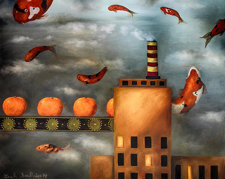 Tangerine Painting - Tangerine Dream Edit 2 by Leah Saulnier The Painting Maniac