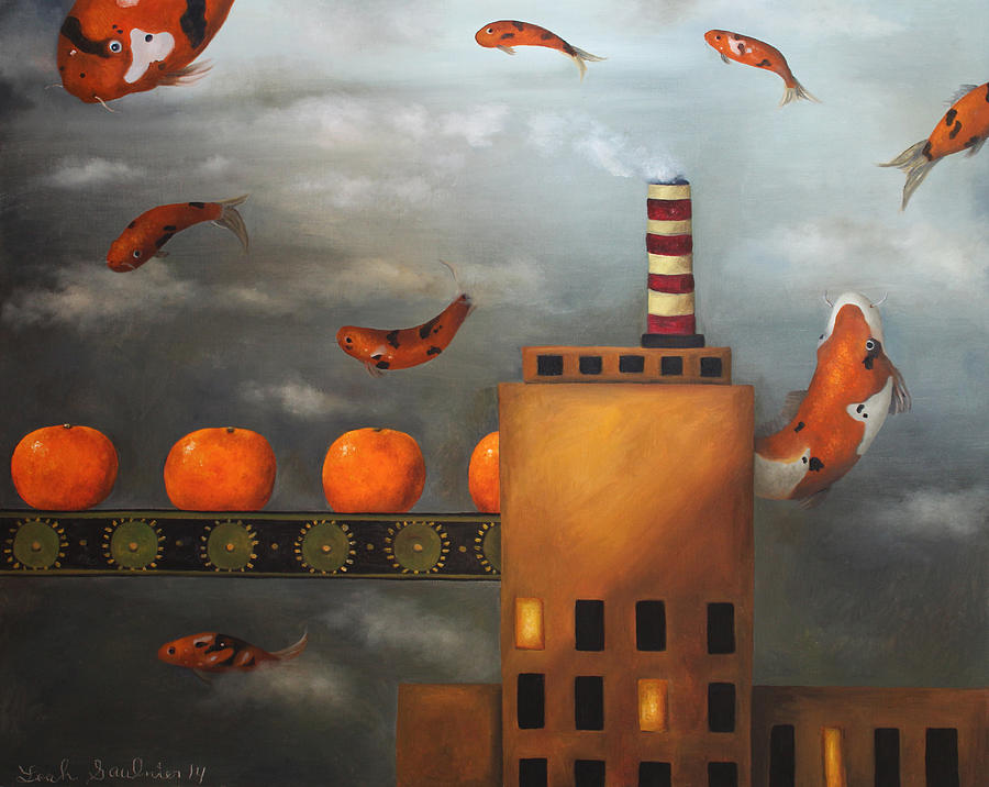 Tangerine Painting - Tangerine Dream by Leah Saulnier The Painting Maniac