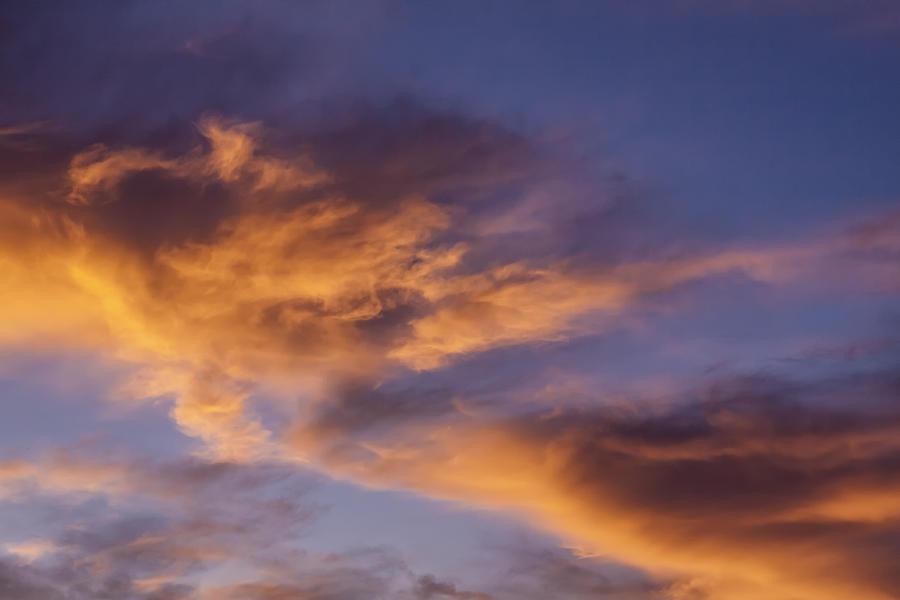 Sunset Photograph - Tangerine Swirl by Caitlyn  Grasso