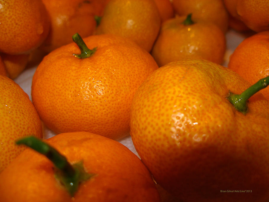 Tangerines Photograph - Tangerines 01 by Brian Gilna