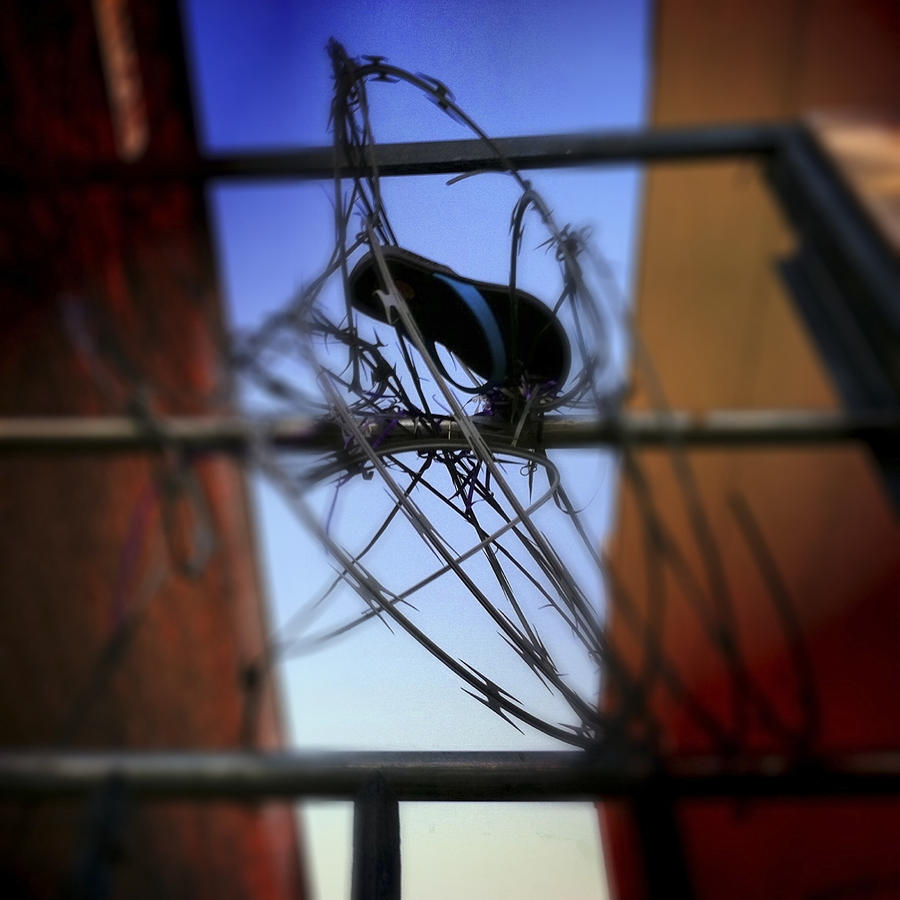 Flipflop Photograph - Tangled by Elena Bouvier